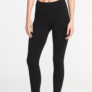 Old Navy high rise black athletic leggings sz M